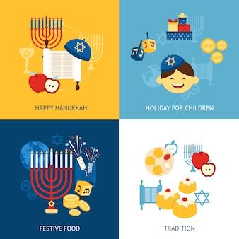 Concepto de hanukkah