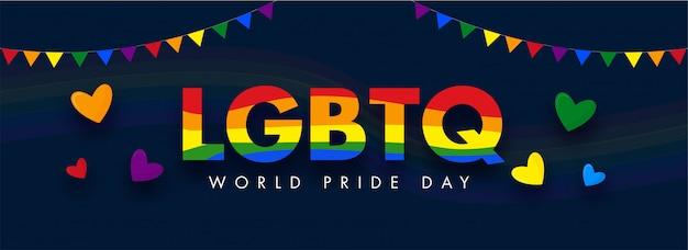 Concepto de happy pride day para la comunidad lgbtq.