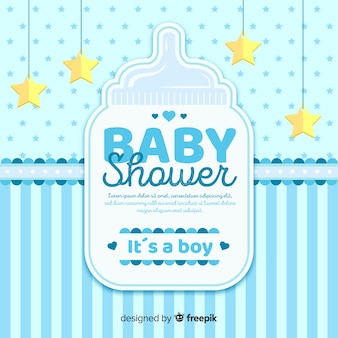 Concepto hermoso de baby shower