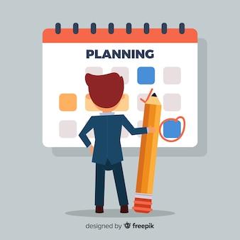 Concepto hermoso de horario de planificación