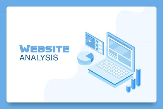 Concepto de herramienta de análisis de sitios web
