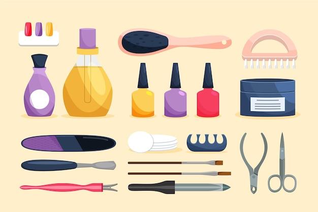 Concepto de herramientas de manicura