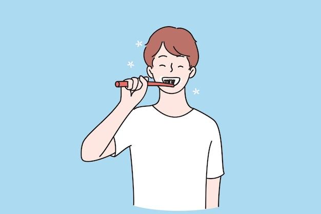 Concepto de higiene y salud dental