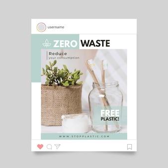 Concepto de historia de instagram cero desperdicio