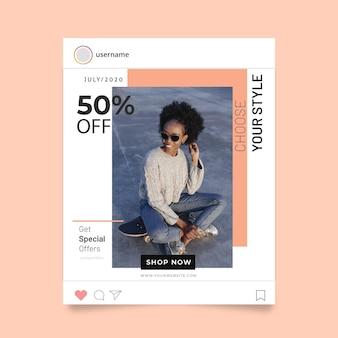 Concepto de historia de instagram de moda