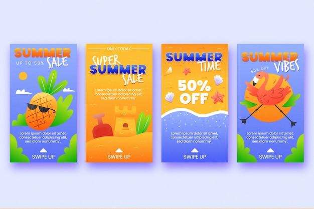 Concepto de historia de instagram de venta de verano