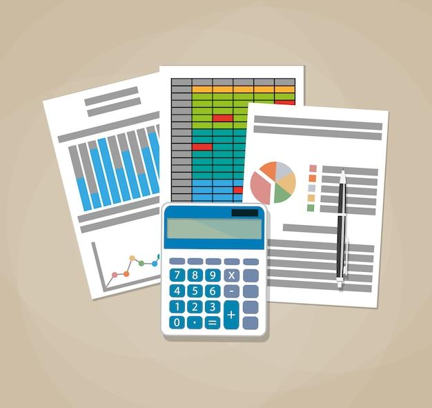 Concepto de hoja de cálculo. conocimiento de los negocios.