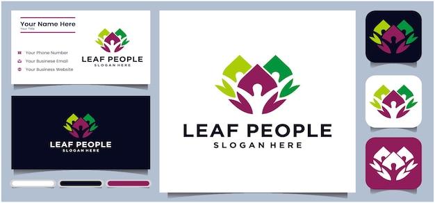 Concepto de hoja logotipo de comunicación logotipo de conversación para todos trabajo comunitario negocios negocios