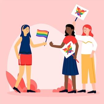 Concepto de homofobia con persona que lucha contra el odio