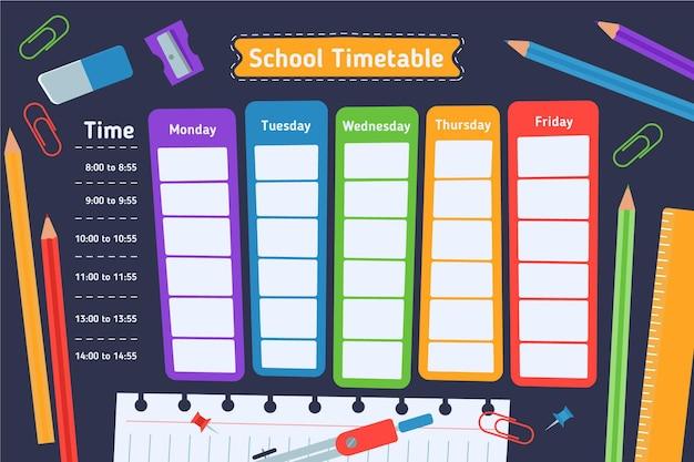 Concepto de horario de regreso a la escuela