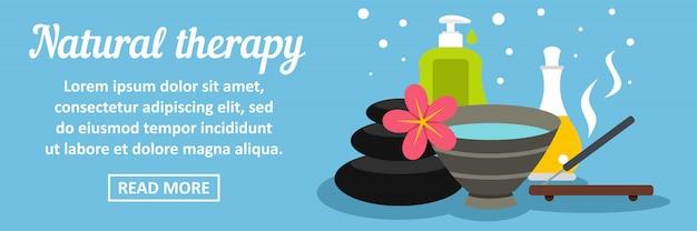 Concepto horizontal de banner de terapia natural