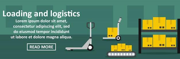 Concepto horizontal de carga y logística banner