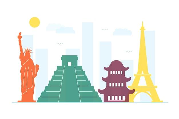 Concepto de horizonte de monumentos coloridos