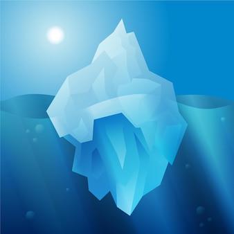 Concepto de iceberg de diseño plano