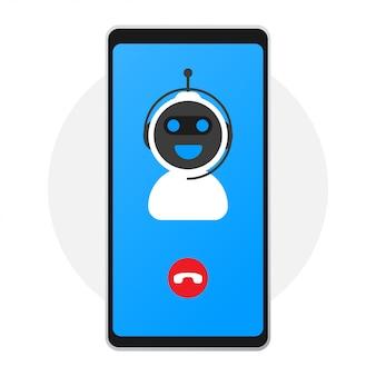Concepto de icono de chatbot, chat bot o chatterbot.