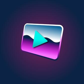 Concepto de icono de símbolo multimedia