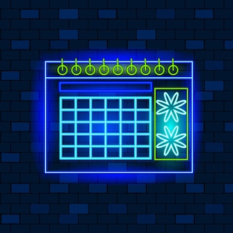 Concepto de iconos de neón vip, planificación empresarial y lluvia de ideas.