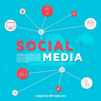 Concepto de iconos de redes sociales
