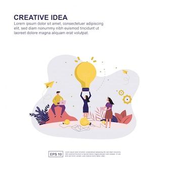 Concepto de idea creativa