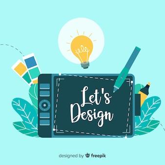 Concepto idea diseño gráfico