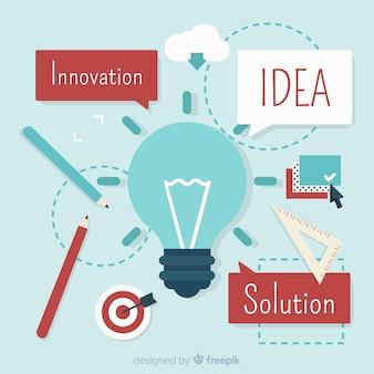 Concepto de idea de diseño gráfico