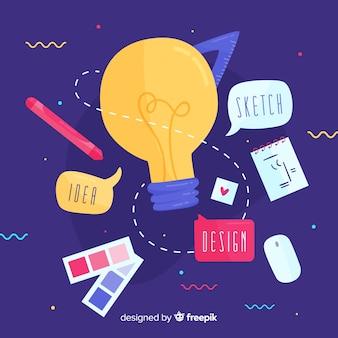 Concepto de idea en diseño gráfico