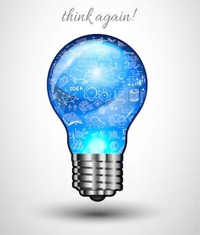 Concepto de idea para lluvia de ideas e infografía