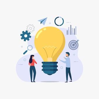 Concepto de idea de negocio para página de destino de diseño web