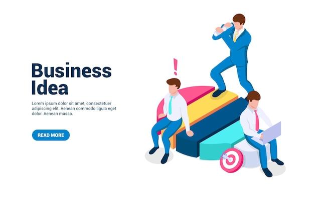 Concepto de idea de negocio personas en una bombilla generan nuevas estrategias y soluciones a problemas