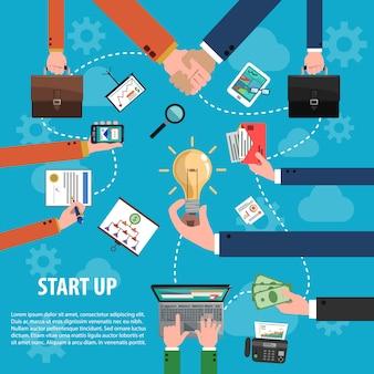 Concepto de idea de negocio