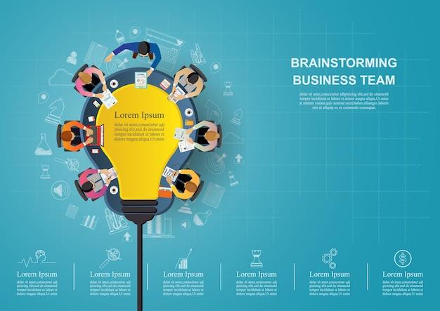 Concepto de idea para el trabajo en equipo de negocios.