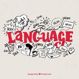 Concepto de idiomas con diseño plano