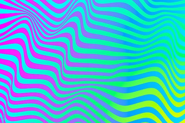 Concepto de ilusión óptica psicodélica de fondo