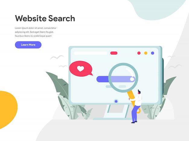 Concepto de ilustración de búsqueda de sitio web