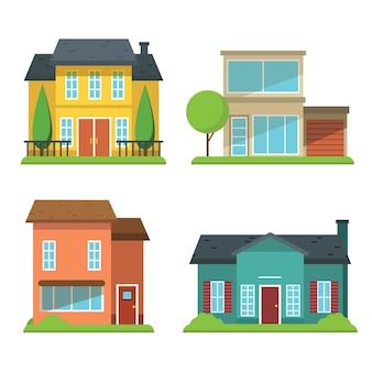 Concepto de ilustración de colección de casa