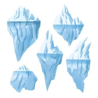 Concepto de ilustración de colección de iceberg
