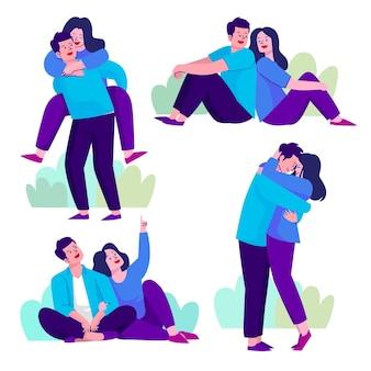Concepto de ilustración de colección de pareja