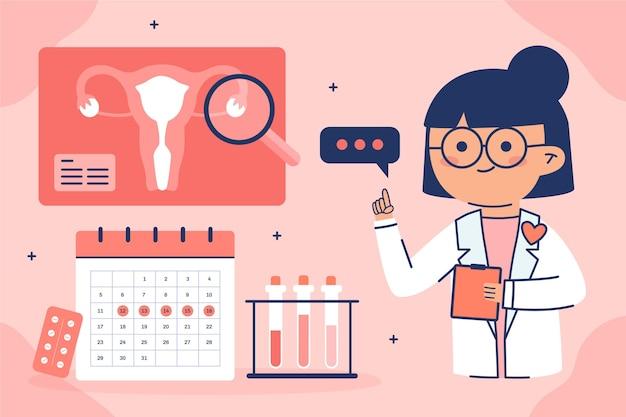 Concepto de ilustración de concepto de ginecología