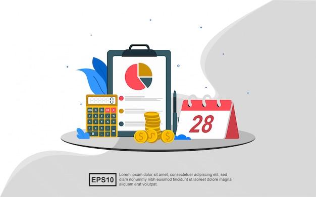 Concepto de ilustración de contabilidad de gestión.