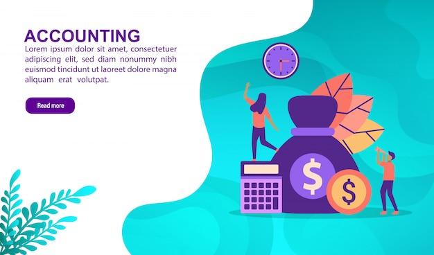 Concepto de ilustración contable con carácter