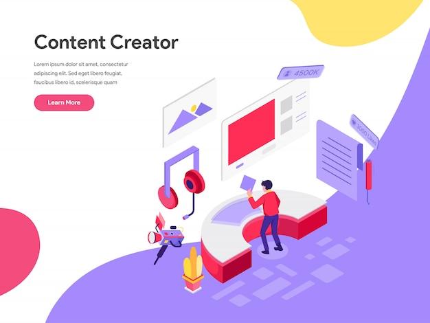 Concepto de ilustración de creador de contenido