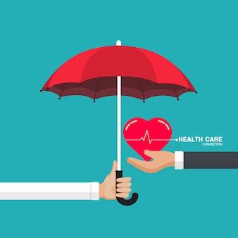 Concepto de ilustración de cuidado de la salud