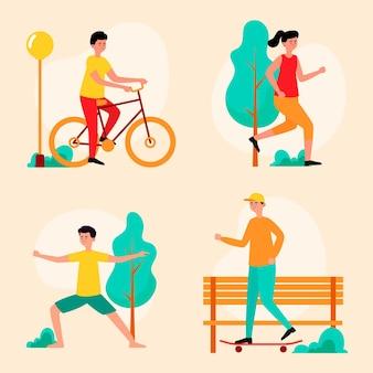 Concepto de ilustración de deportes de verano