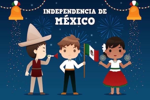 Concepto de ilustración del día de la independencia de méxico