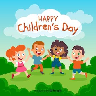 Concepto de ilustración para el día de los niños.