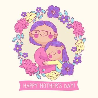 Concepto de ilustración de dibujo del día de las madres