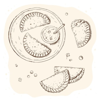 Concepto de ilustración de empanada