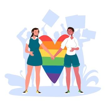 Concepto de ilustración de homofobia