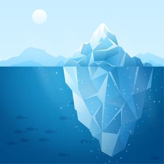 Concepto de ilustración de iceberg