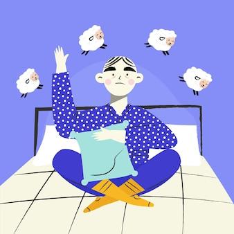 Concepto de ilustración de insomnio
